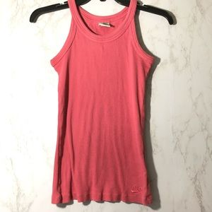 Nike Juniors Pink Ribbed Tank Size Small (4-6)